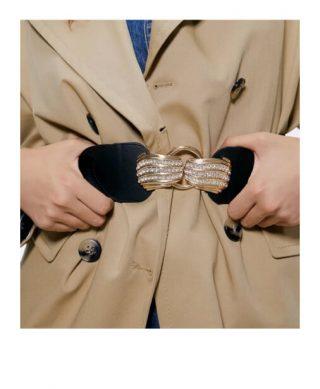ceinture elastique noire bijoux