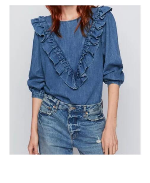 chemise-en-jean-a-volants