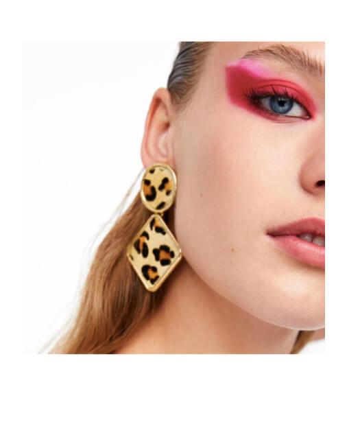 leopard boucles d'oreilles