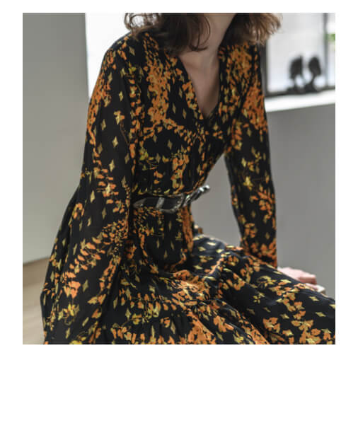 robe imprimée plumetis
