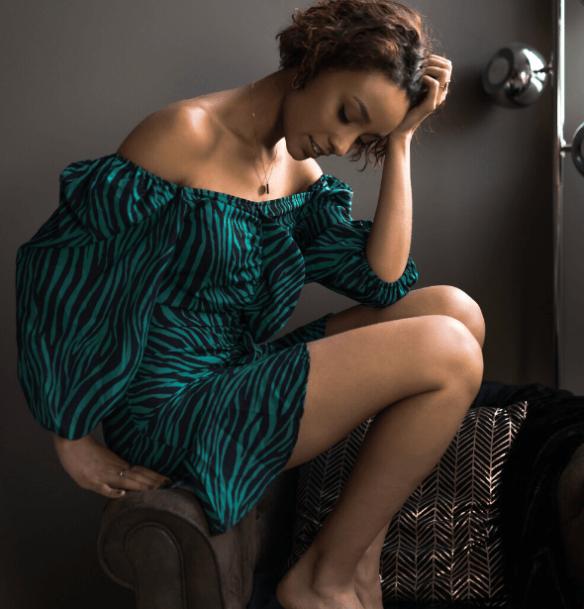 robe courte imprimee