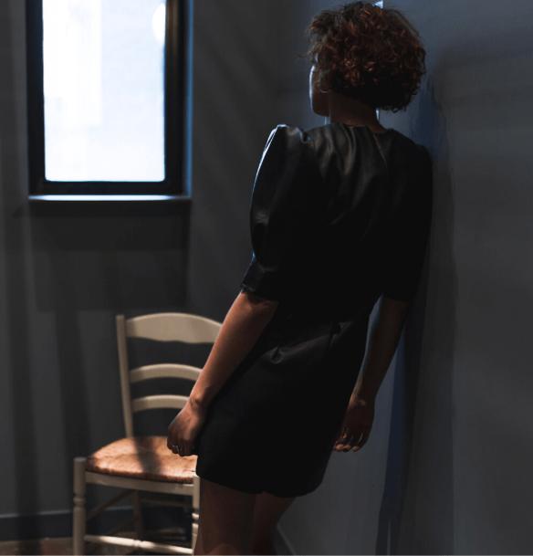robe courte dos