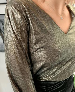 blouse chic femme doree