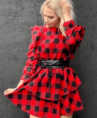 robe a carreaux rouge