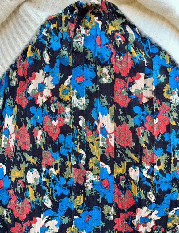 zoom jupe plissee