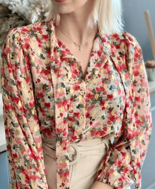 blouse chic imprimee fleurs