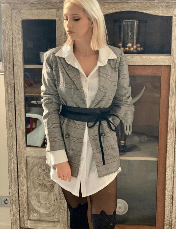 look robe et chemise blazer