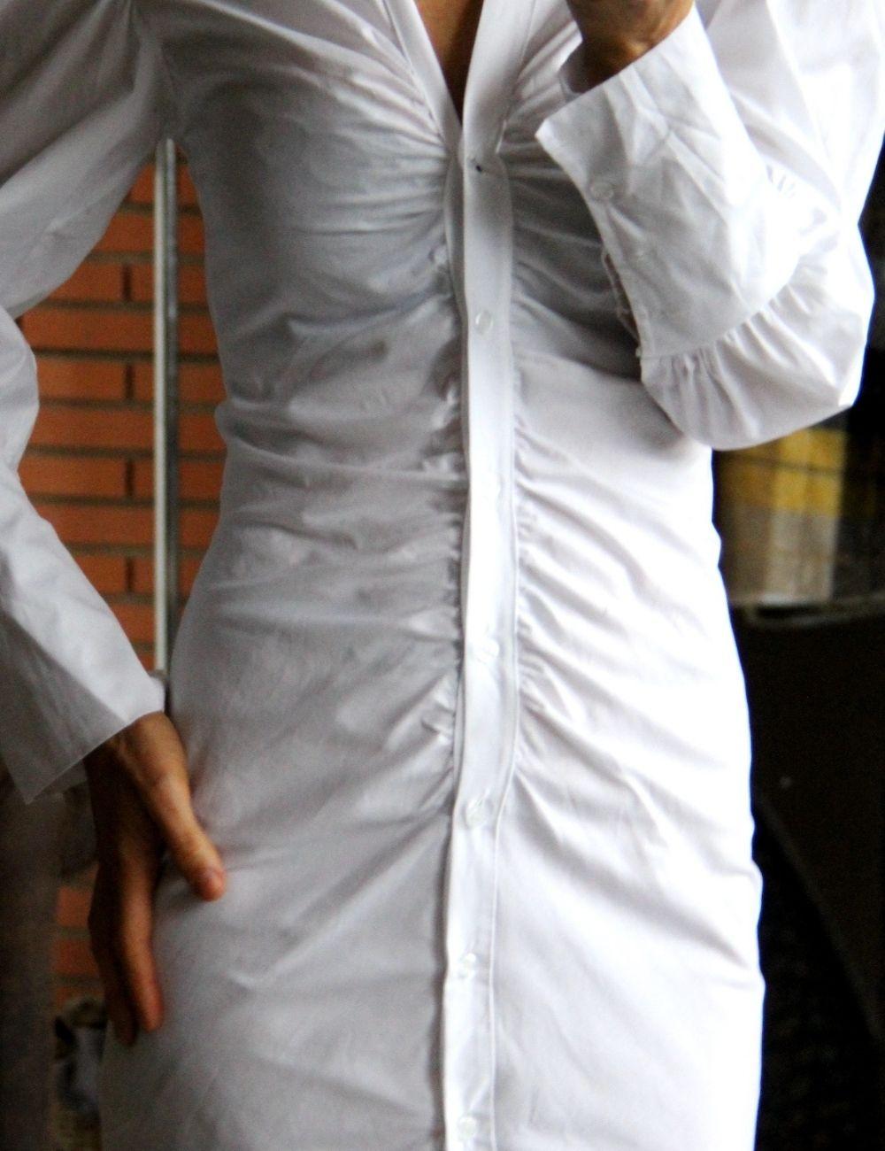 Robe Chemise Pas Cher Chemise Blanche Cintree Laisse Les Parler