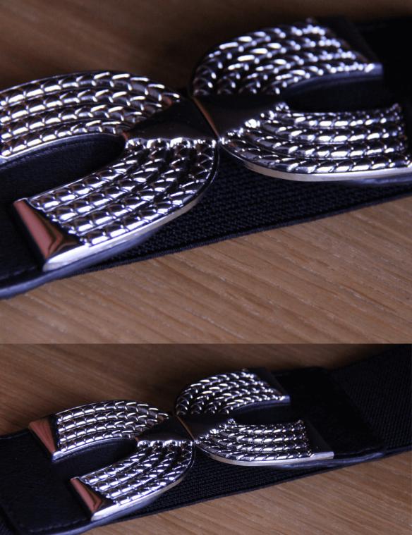 ceinture noire élastique