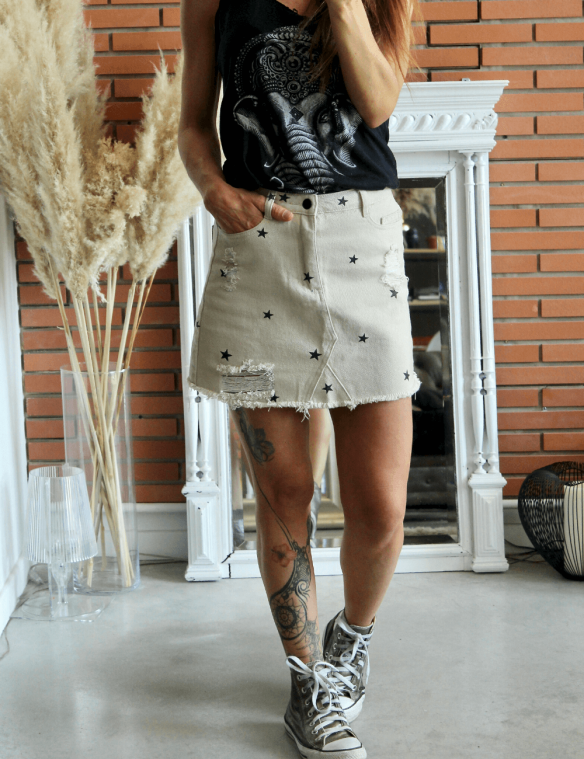 mini jupe étoile