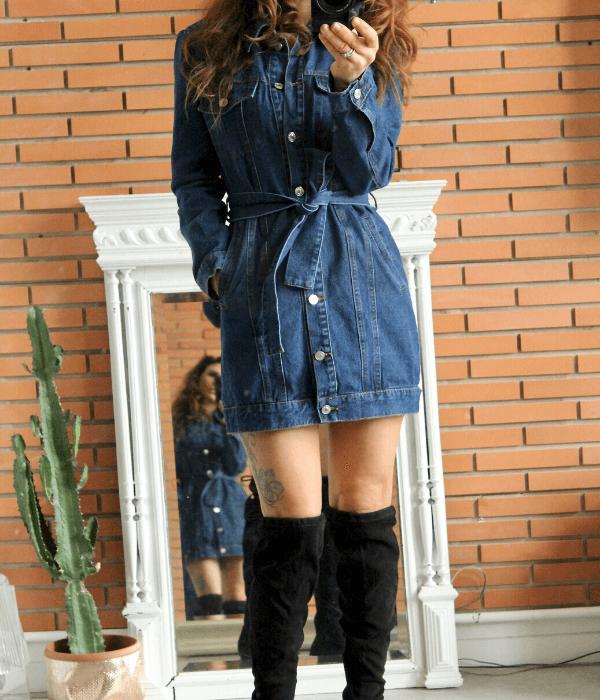 veste robe en jean