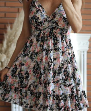 robe courte imprime dos nu