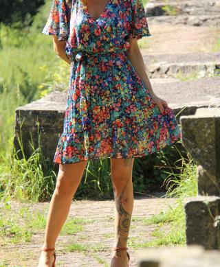 achat robe courte ete fleurie