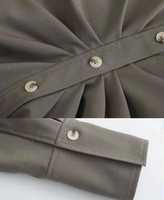 detail manches et drapée