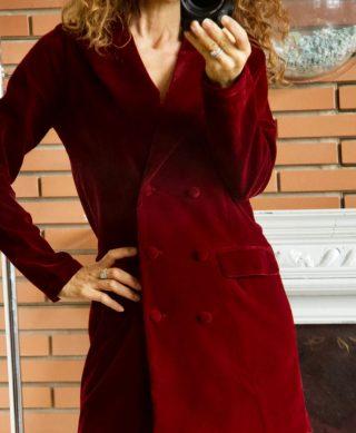 robe blazer en velours