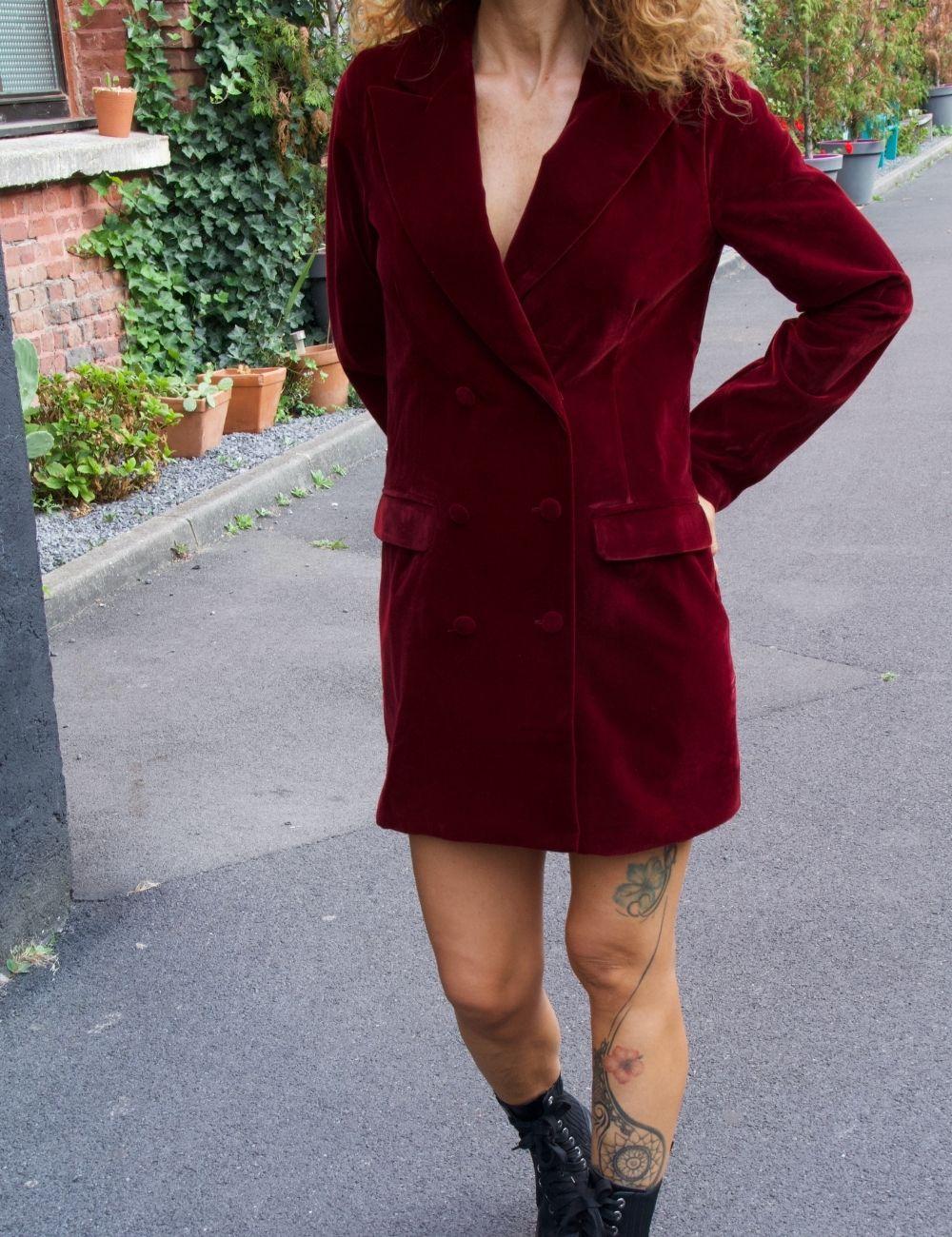 Achat Robe Blazer En Velours Robes Nouveautes