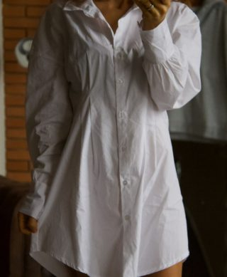 chemise blanche oversized longue