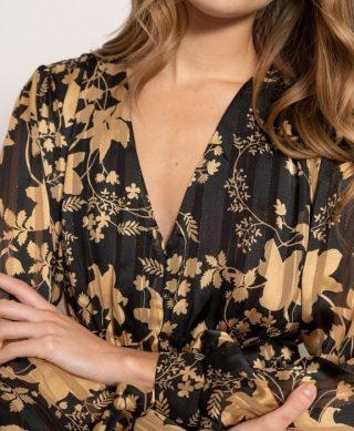 tendance robe longue fleurie