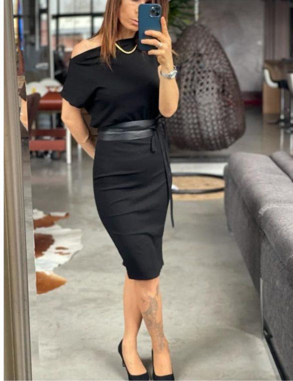 robe ajustée mi longue
