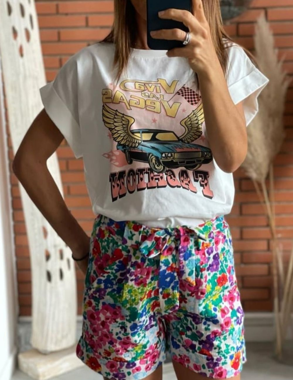 tee shirt tendance imprime petit prix