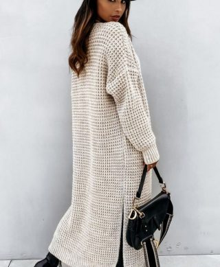 gilet long maille