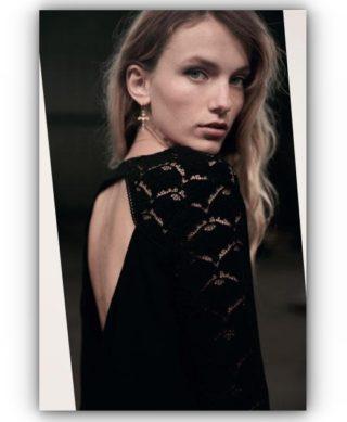 blouse dentelle noire flirt
